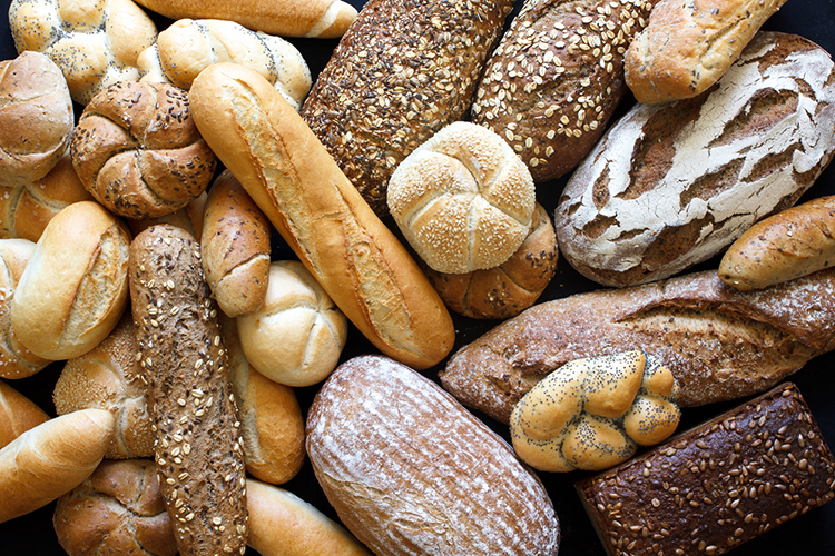 Panes con gluten