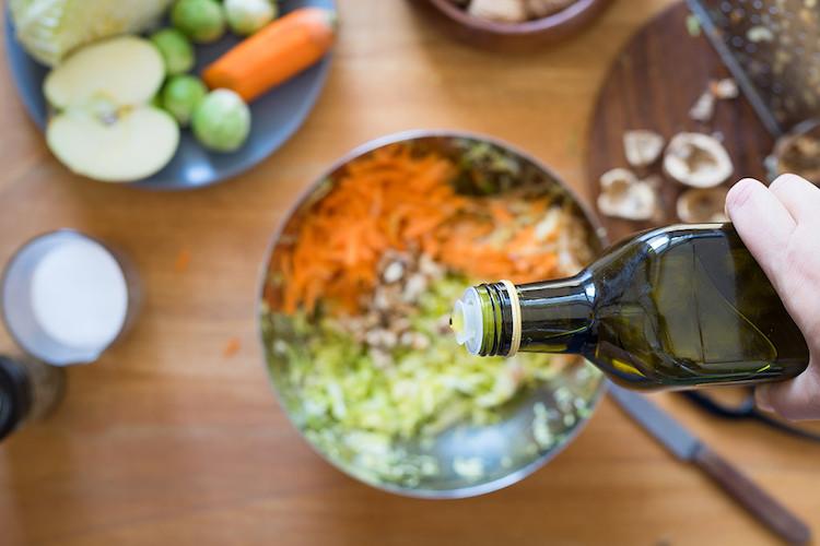 Aceite de oliva y corazón