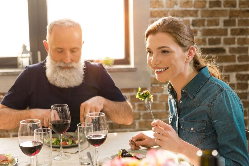 Comida sana en restaurante