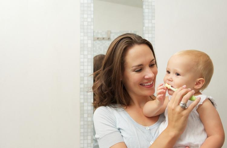 Cepilla Los Dientes De Tú Bebé Desde El Primer Día De Su Aparición