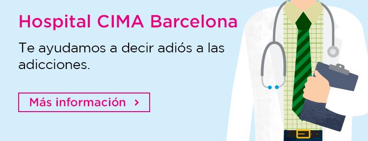 Información sobre la especialidad de adicciones del Hospital CIMA Barcelona