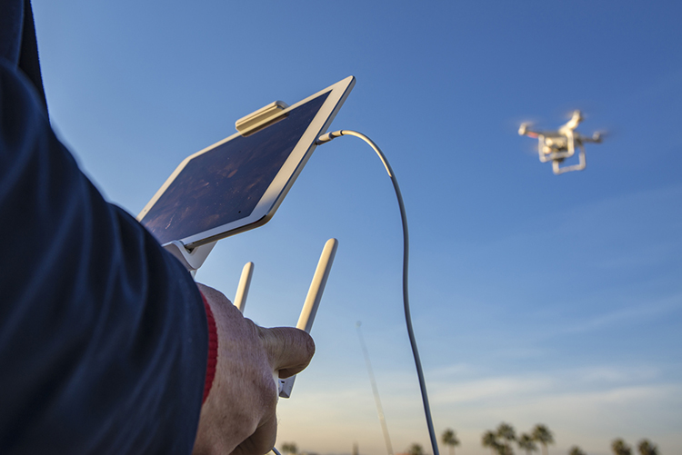 Drón volando