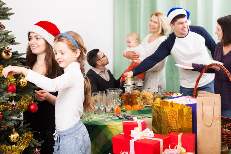 Festejar algo la Navidad