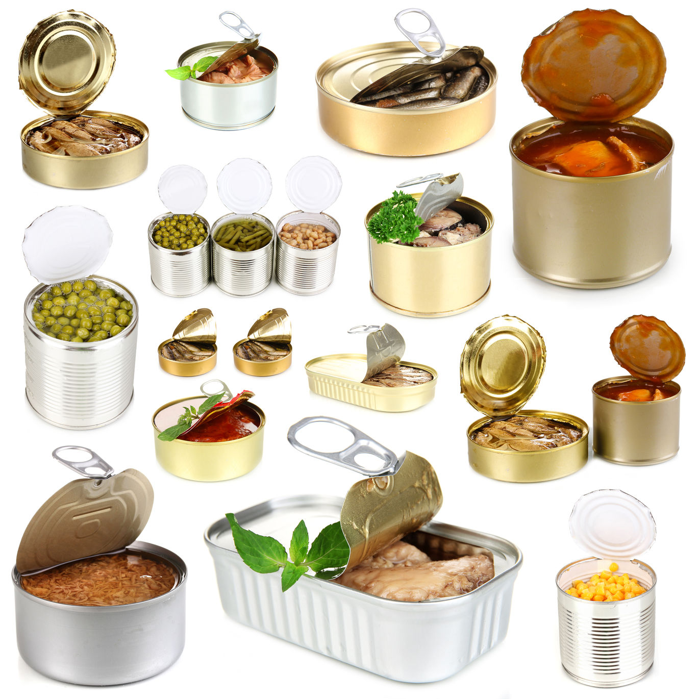 alimentación saludable latas